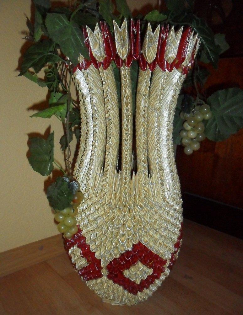 Большая напольная ваза своими руками из модулей 99