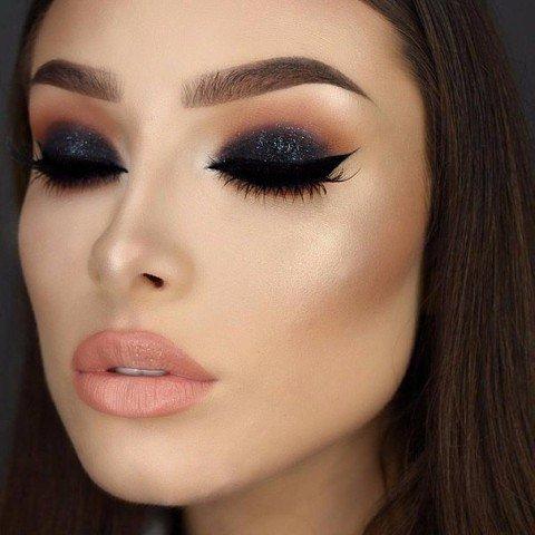 Вечерний макияж смоки фото