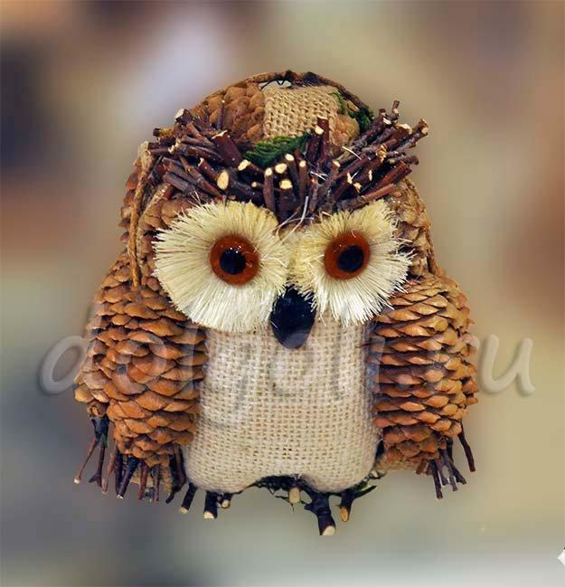 Как сделать сову своими руками из природного материала