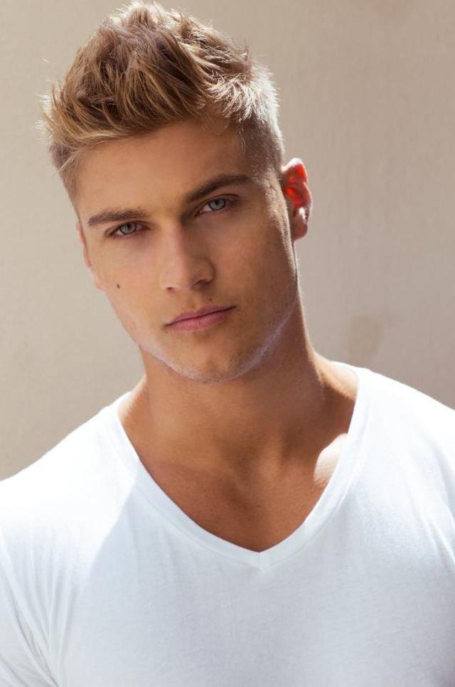 Причёски мужские светлые волосы