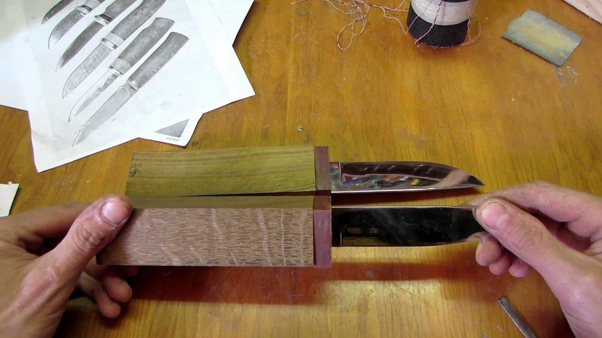 Как сделать нож из дерева своими руками в домашних
