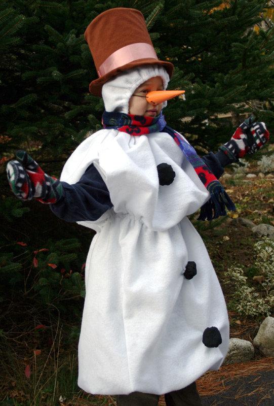Как сшить костюм снеговика для взрослых своими руками