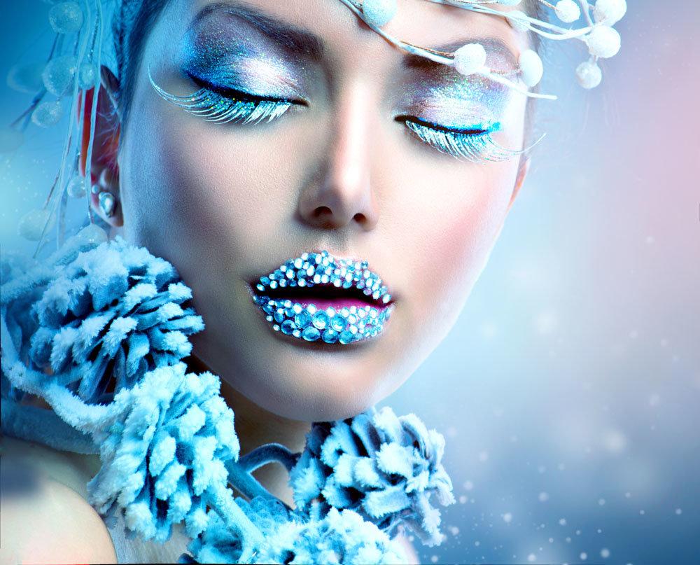 Картинки зимнего макияжа