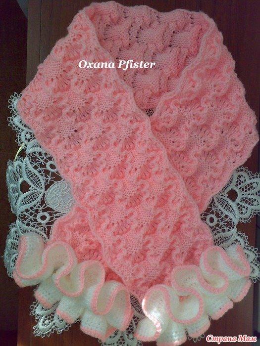 Вязание спицами девочек шарфы
