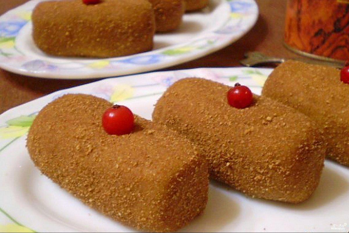 Пирожные картошка из печенья и сгущенки