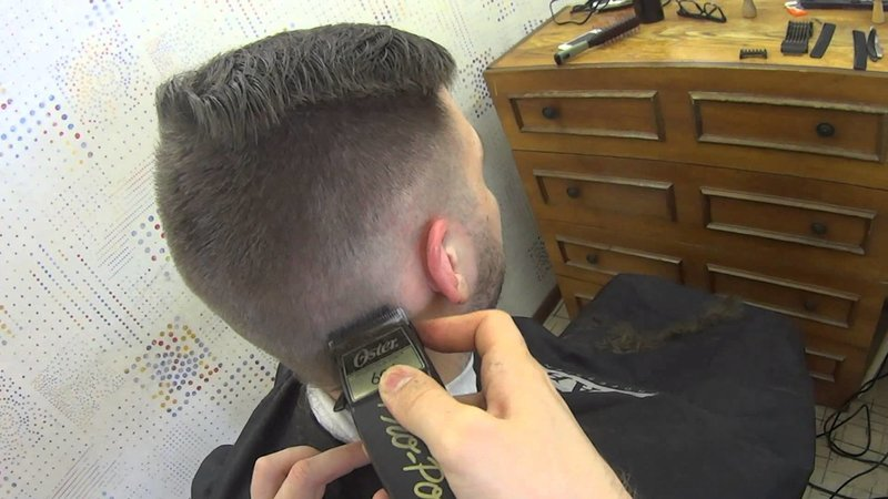 Классическая мужская стрижка машинкой видео