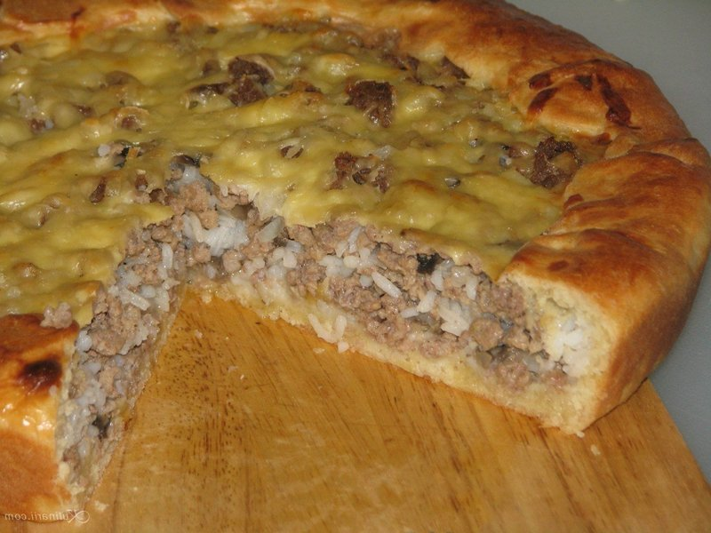 Тесто мясной пирог с фаршем с фото