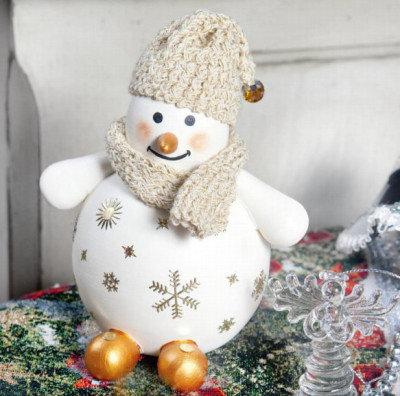 Снеговик под елку своими руками поделка 68