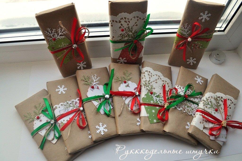 Упаковка новогодних подарков 43