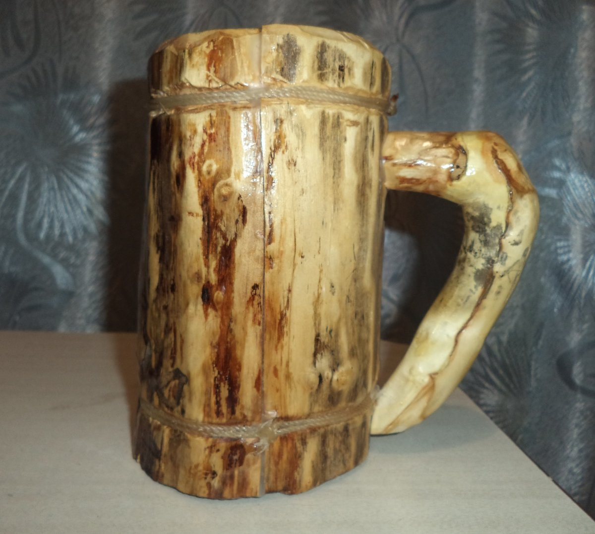 Как сделать деревянную кружку кружка из дерева Hand-made 11
