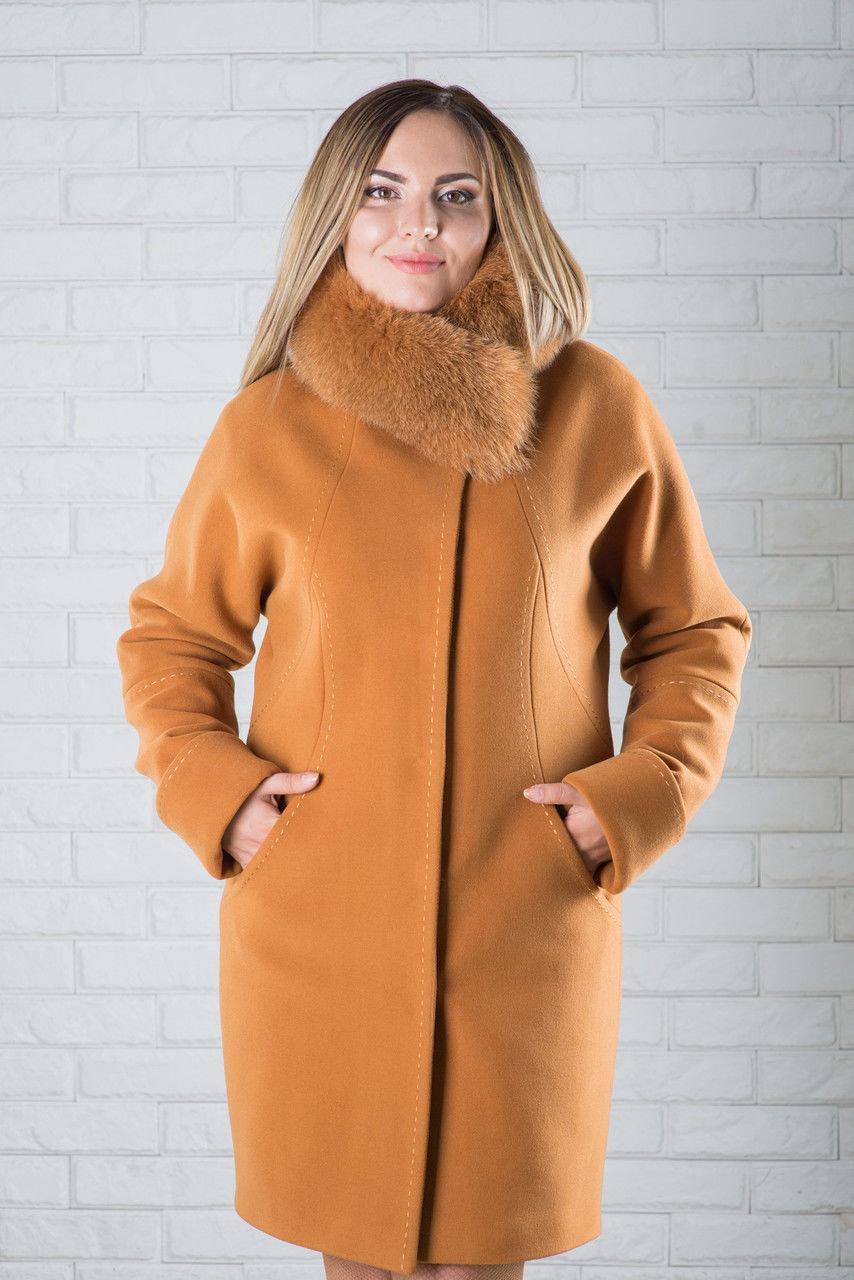 Пальто с мехом зимнее