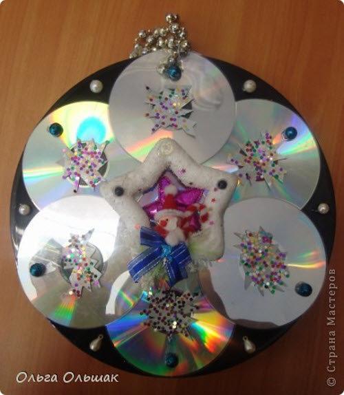Новогодние поделки из дисков своими руками на новый год