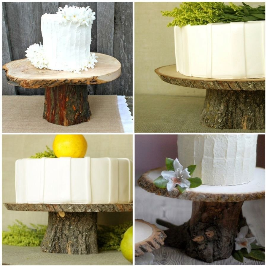 Как сделать подставку для торта из дерева своими руками