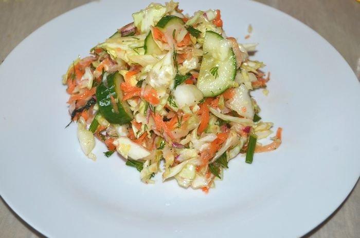 Салат из свежей трескиы