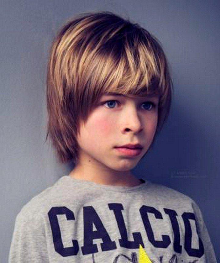 Мальчиковые стрижки на длинных волосах