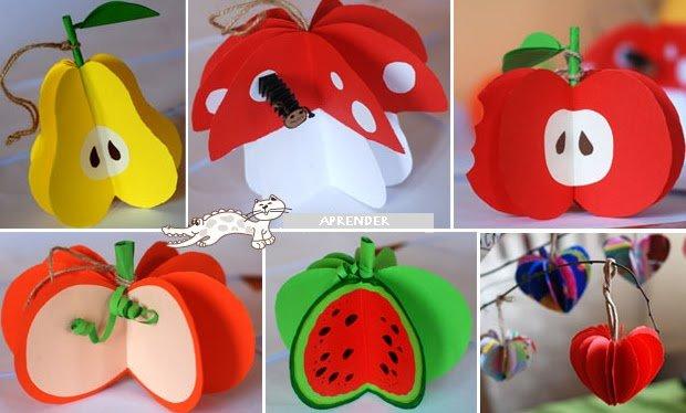Поделки с детьми на тему фрукты