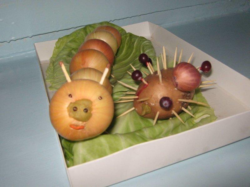 Поделки из овощей для школы 2 класс