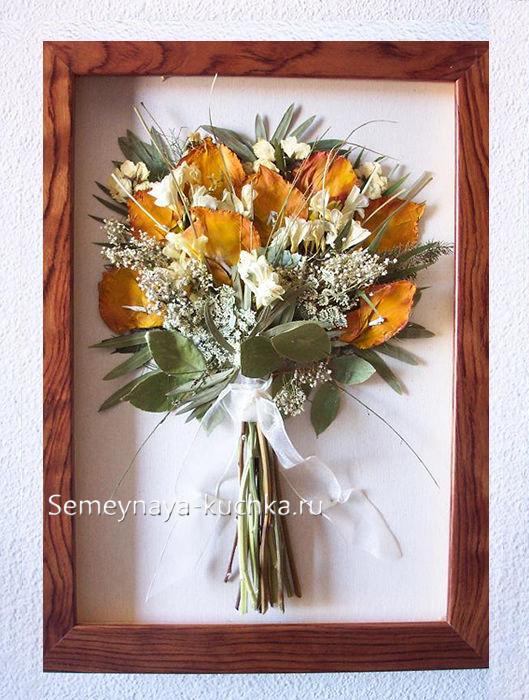 Картины из осенних цветов своими руками