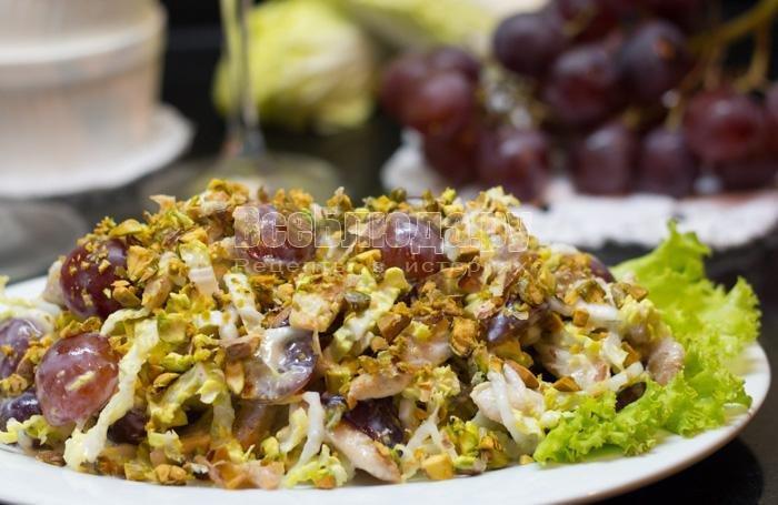 Салат с курицей самый вкусный рецепт с пошагово