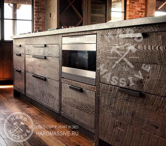 Кухонная мебель в стиле лофт своими руками 72