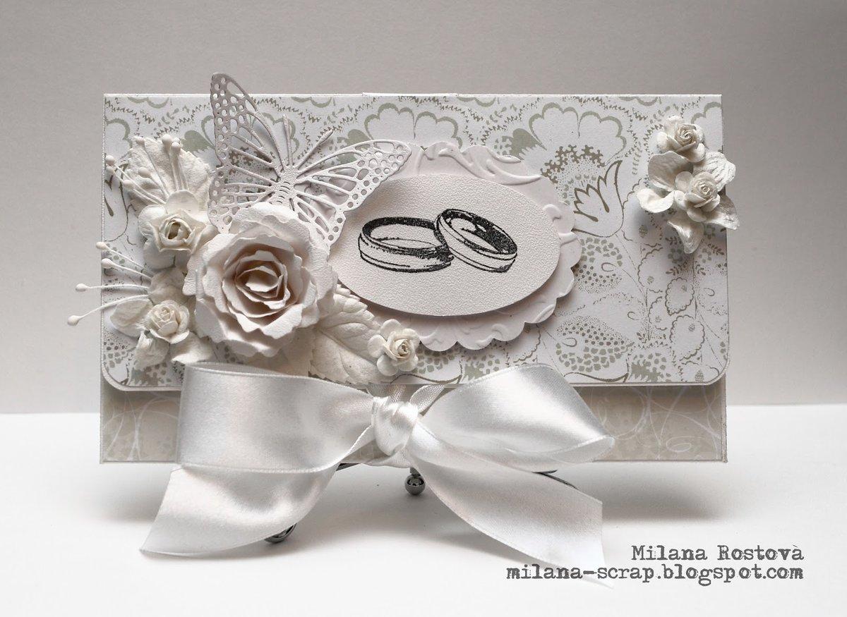 Свадебная открытка для денег скрапбукинг 95