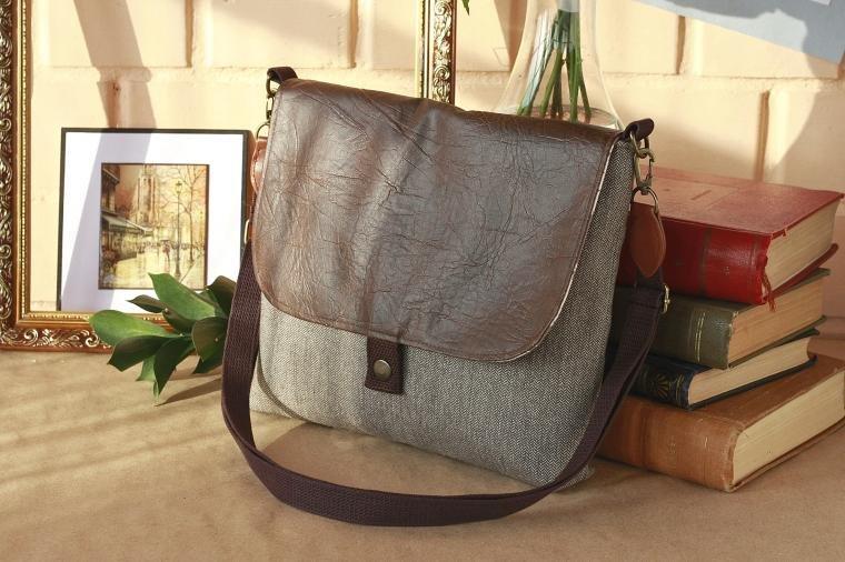 Квадратная сумка через плечо своими руками 4