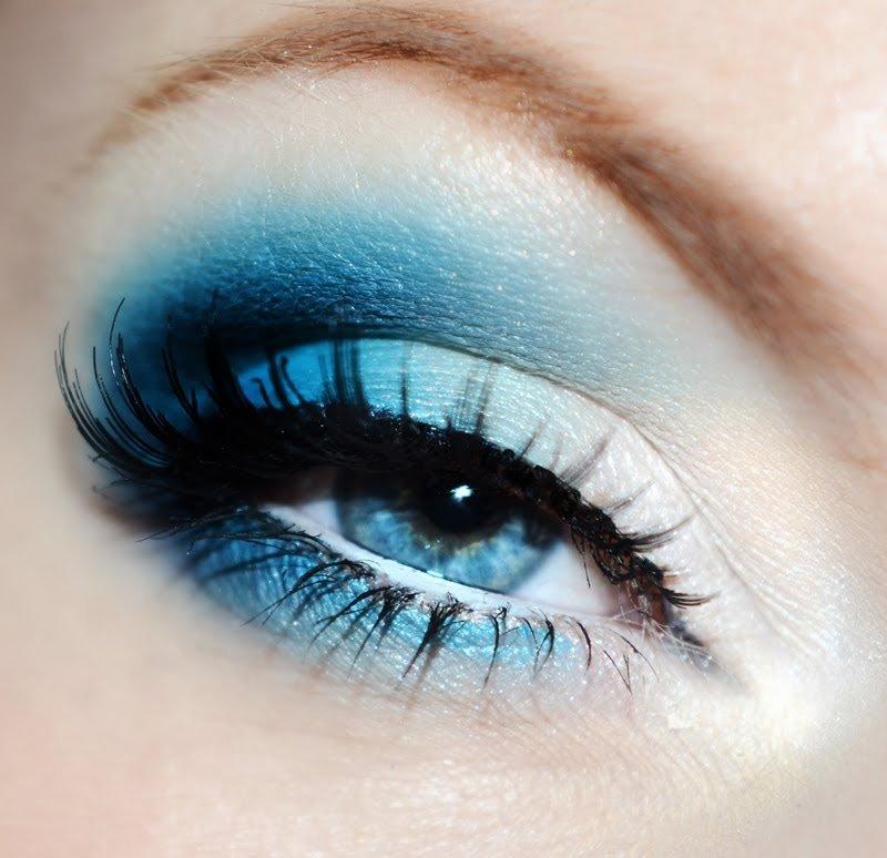 Макияж смоки айс синий оттенок