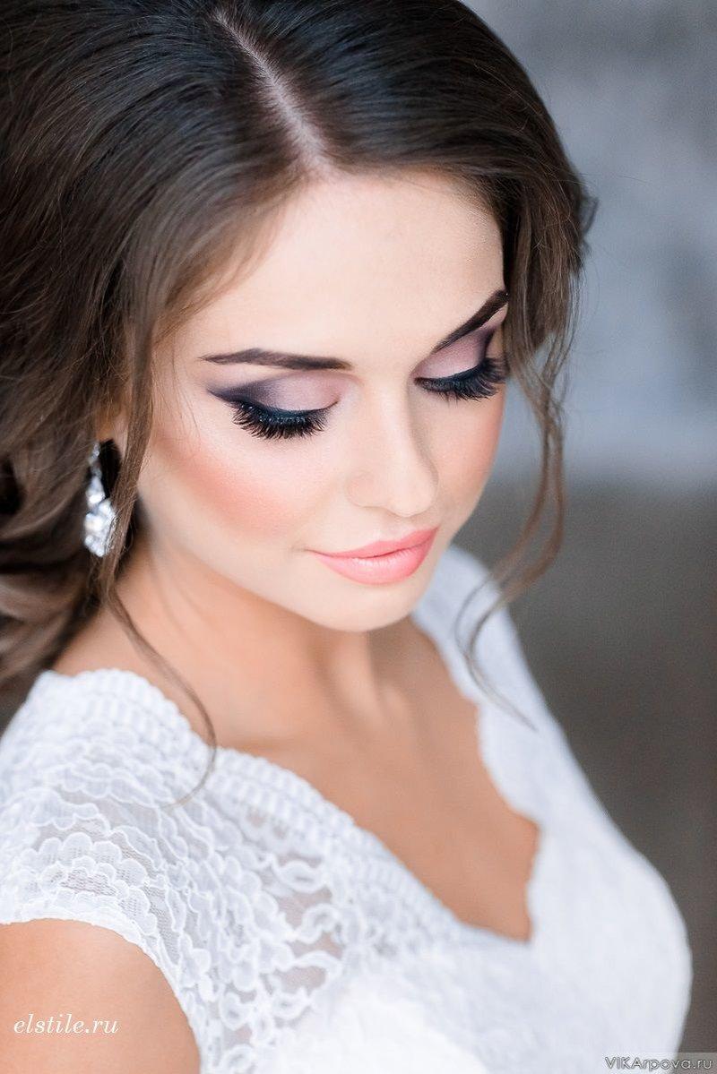 Фото свадебный макияж для карих глаз