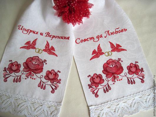 Вышивка на полотенце для свадьбы 64