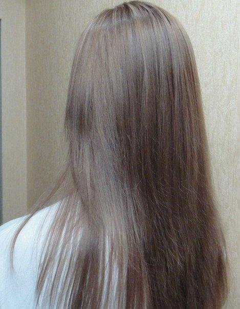 Пепельно-русый цвет в домашних условиях