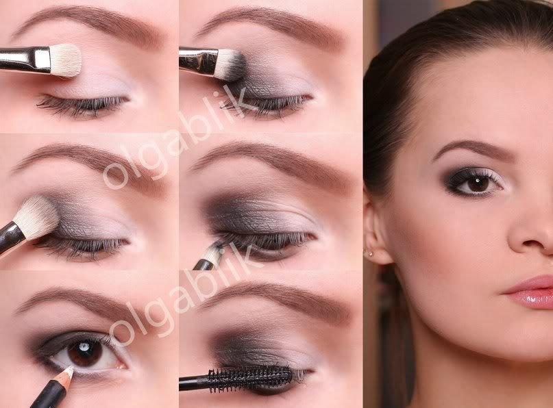 Вечерний макияж для карих глаз как делать