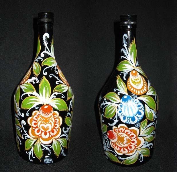 Узоры на бутылке