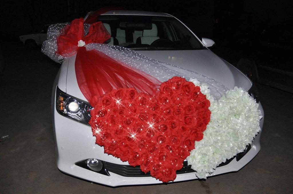 Сердечко своими руками для свадебного машины 85