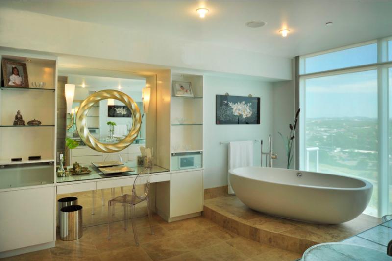Зеркало в ванную комнату в интерьере фото