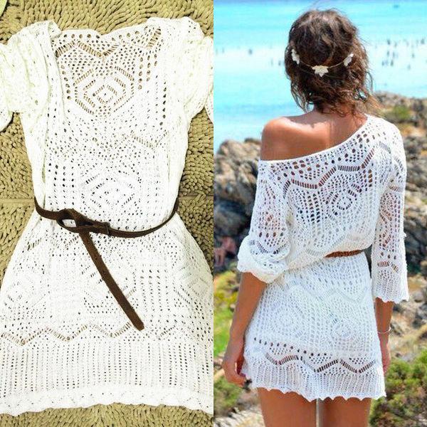 Вязанные летние платья