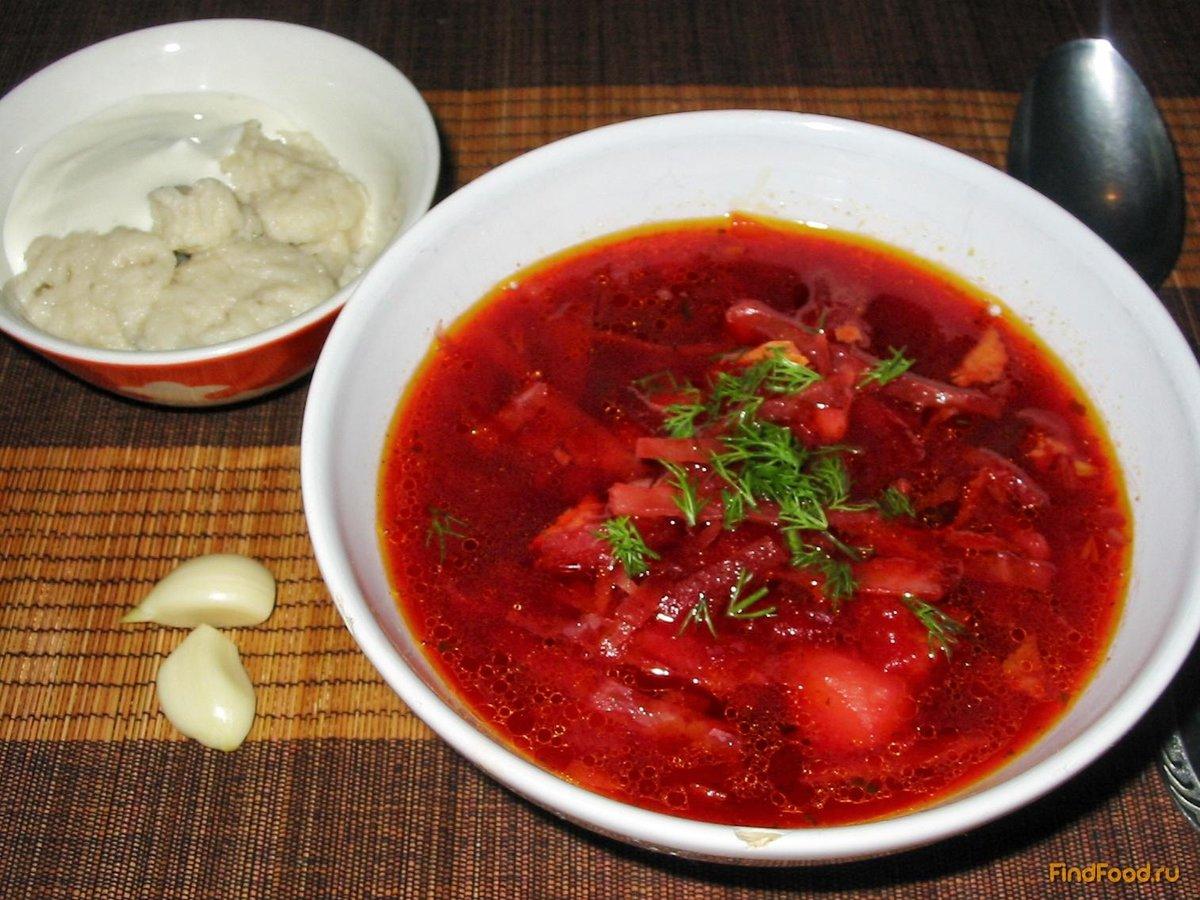 Вкусный борщ украинский рецепт пошагово в