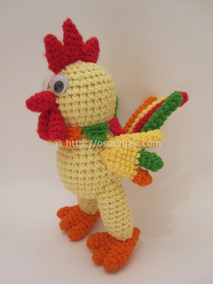 Вязание крючком игрушки амигуруми петушок