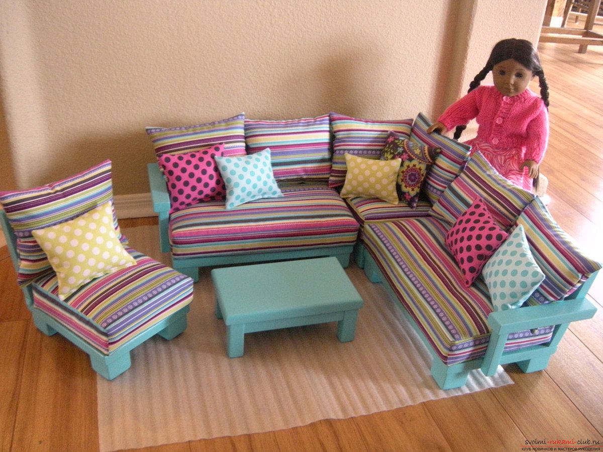 Мебель для куклы своими рукам