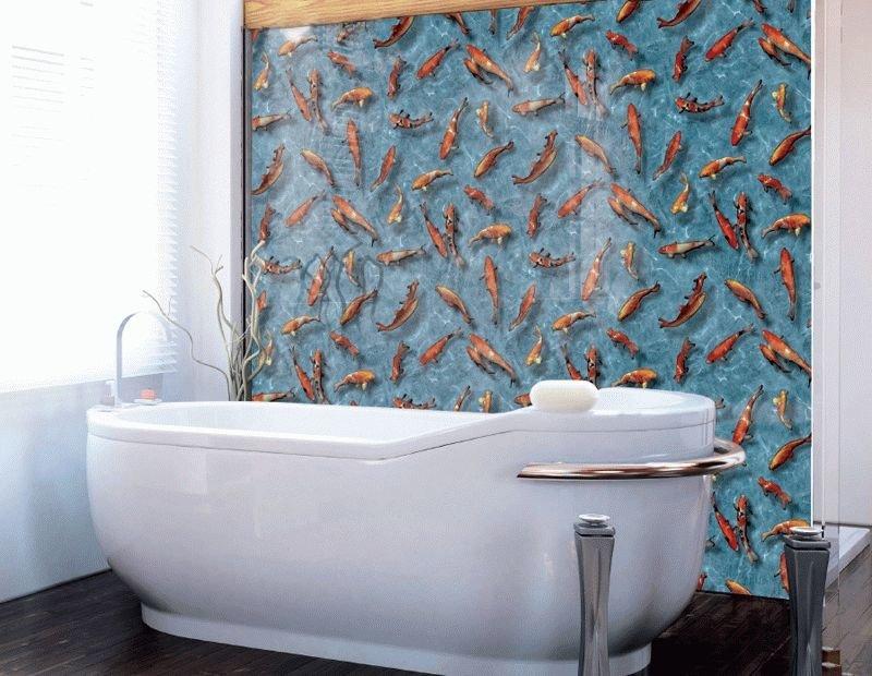 Как сделать обои для ванны 223