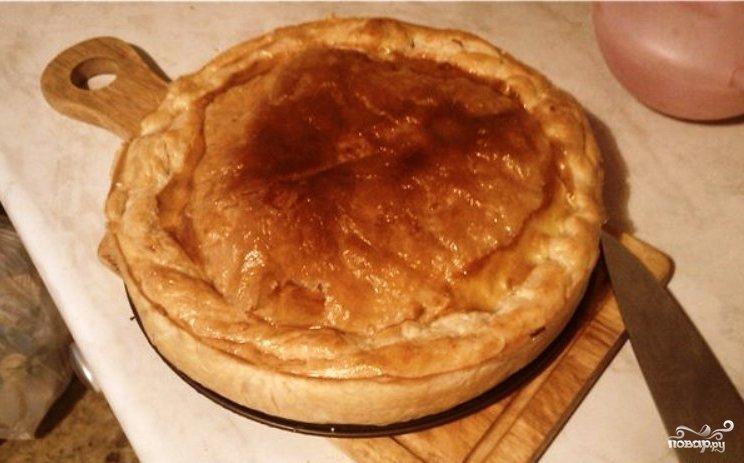 Рецепт пирога с бездрожжевого слоеного теста