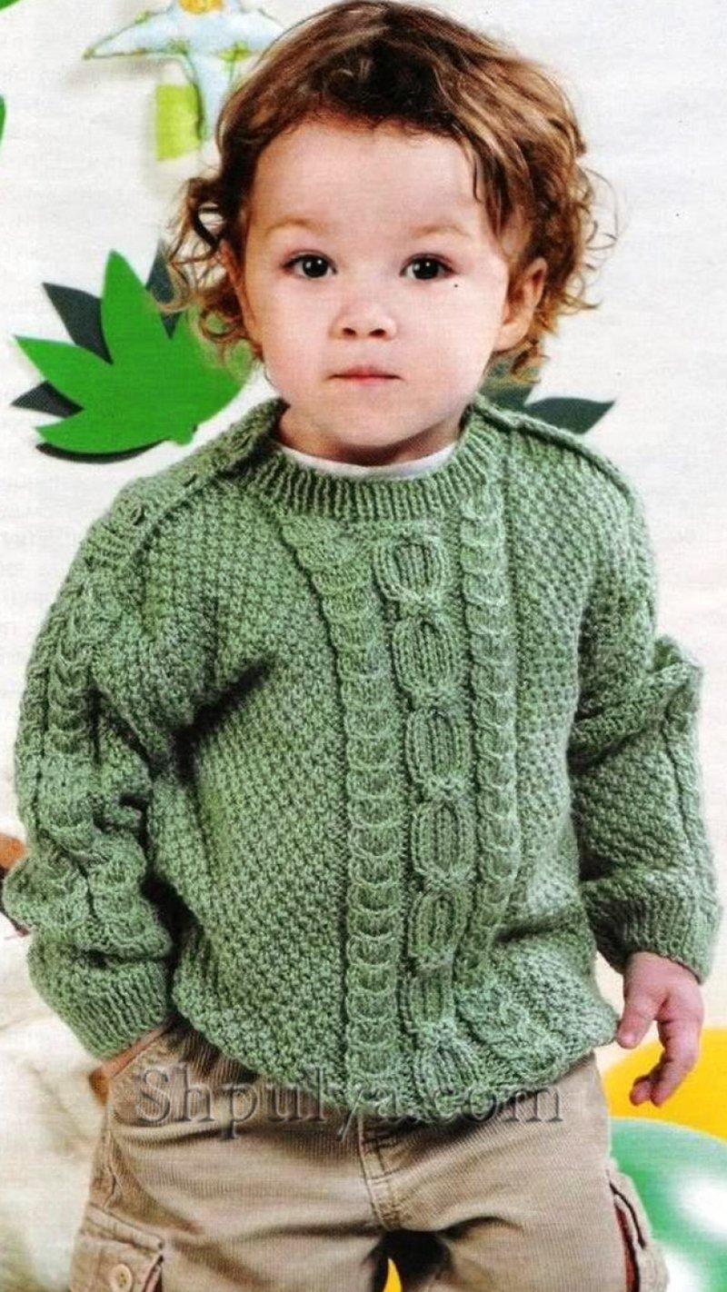 Вяжем детские свитера для мальчиков