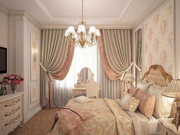 Шторы для спальни дизайн 2016 классика