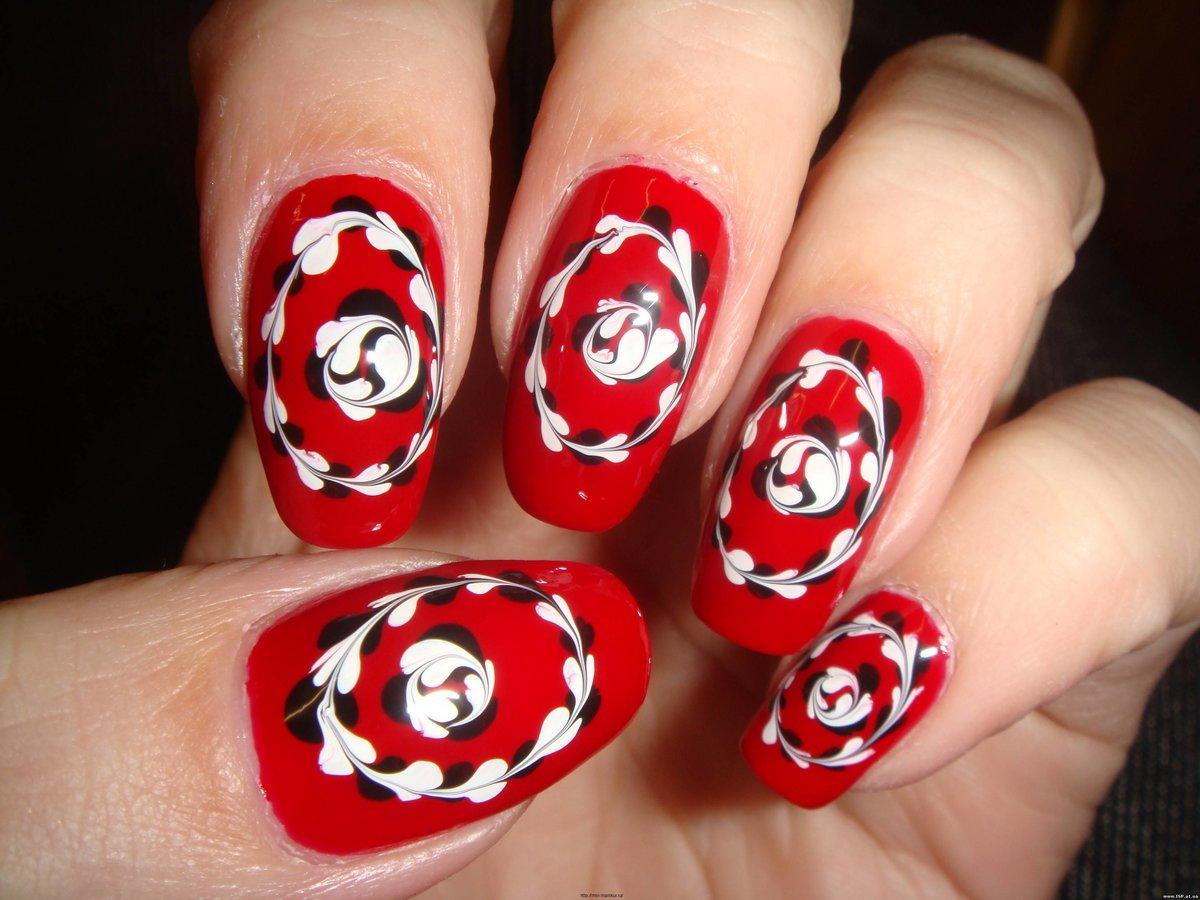 Красивый и простой рисунок на ногтях в домашних условиях фото