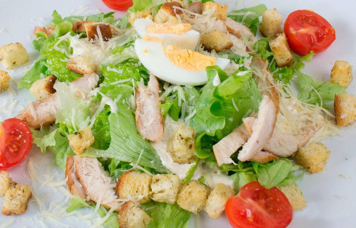 Салат цезарь домашний рецепт с