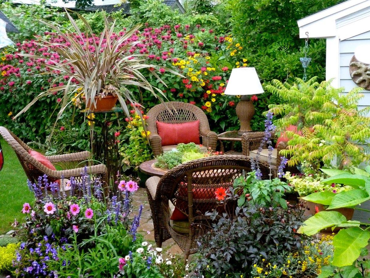 Дизайн садового участка в стиле кантри