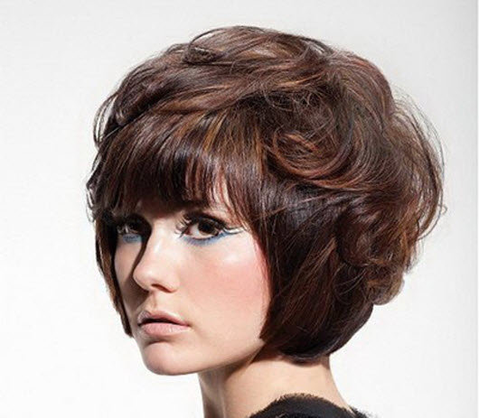 Шапочка стрижка женская на средние волосы