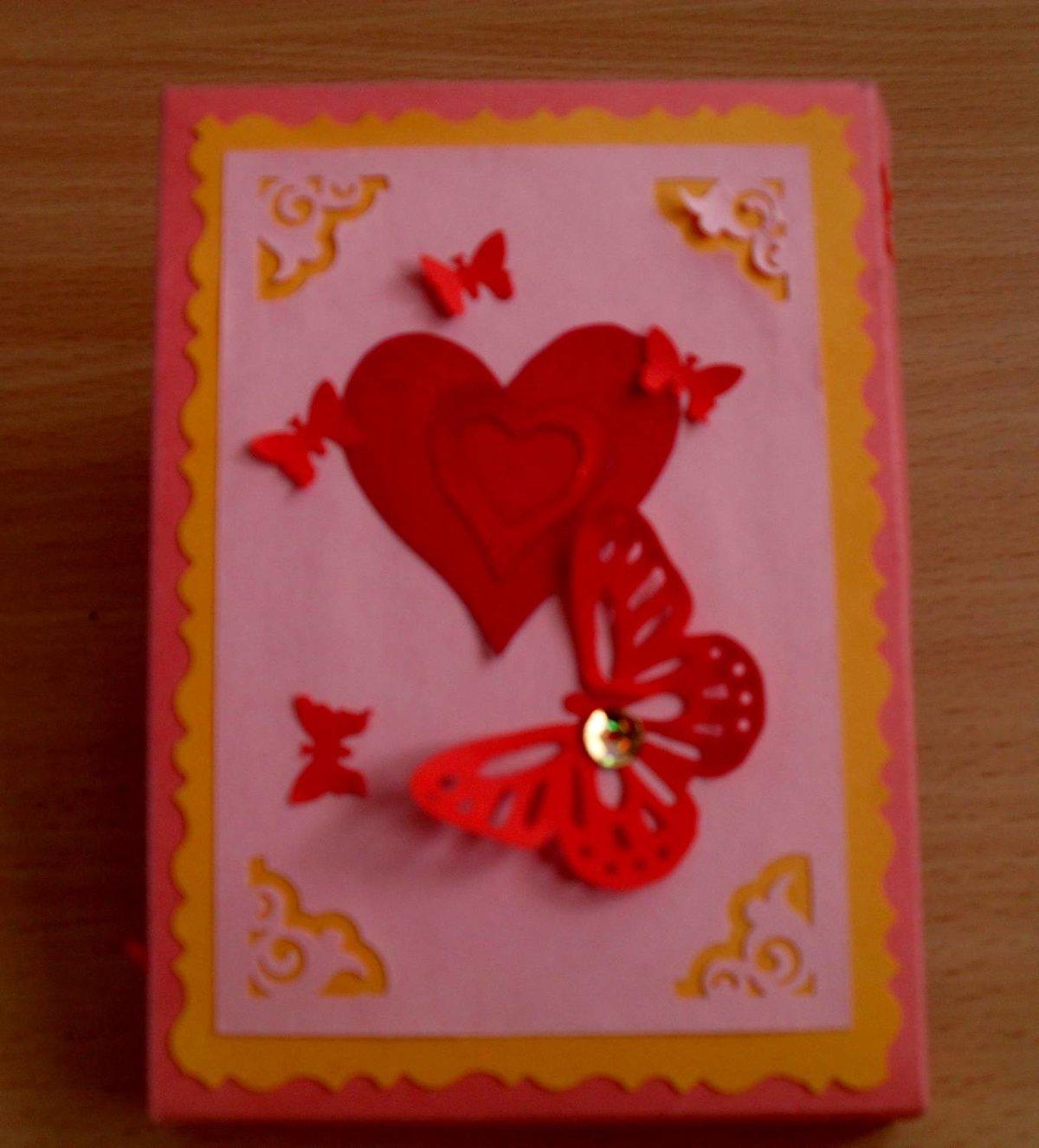 Сделать своими руками открытку на день валентина своими руками