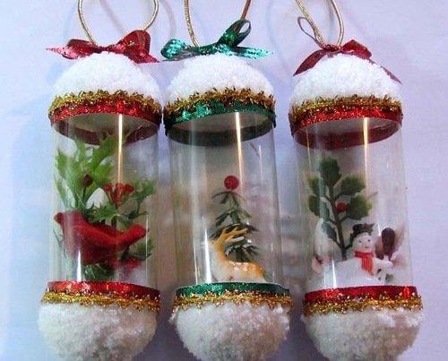 Как сделать новогоднюю игрушку из бутылки своими руками
