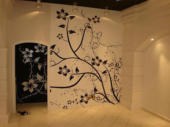 Как сделать рисунки на стенах трафареты