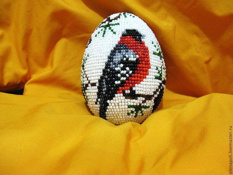 Пасхальное яйцо из бисера подробная схема